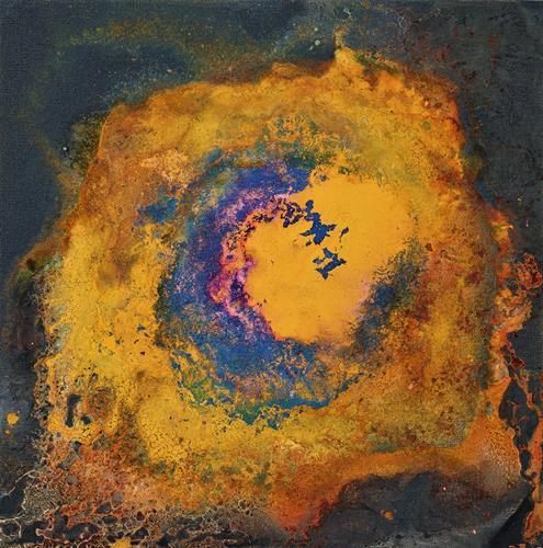 Gerhard Knolmayer, Un atisbo de esperanza, Outer space, Fantasy, Drip Painting, Abstract Expressionism