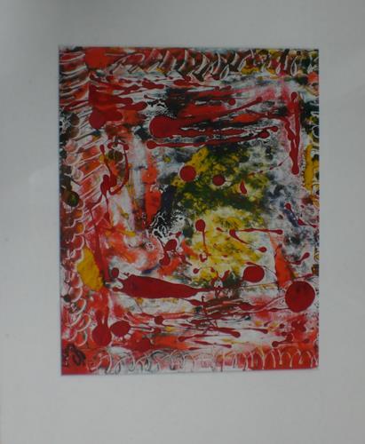 Gabriele Scholl, Linol, Abstract art, Decorative Art, Action Painting