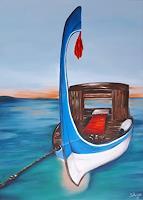 Gabriele-Scholl-Nature-Water-Landscapes-Sea-Ocean-Modern-Age-Primitive-Art-Naive-Art