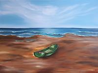 Gabriele-Scholl-Landscapes-Sea-Ocean-Landscapes-Beaches-Modern-Age-Primitive-Art-Naive-Art