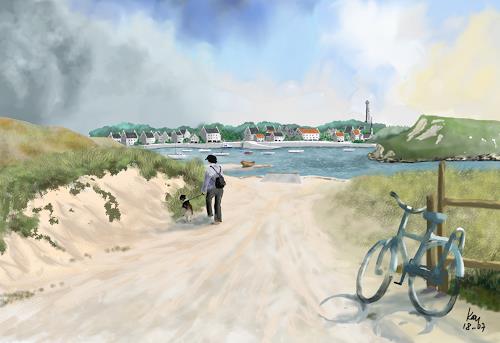 Kay, Kersaint-Bretagne, Landscapes: Sea/Ocean, People: Women, Contemporary Art