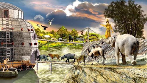 Kay, Gilgamesch-Epos, Fantasy, Mythology, Historism, Abstract Expressionism