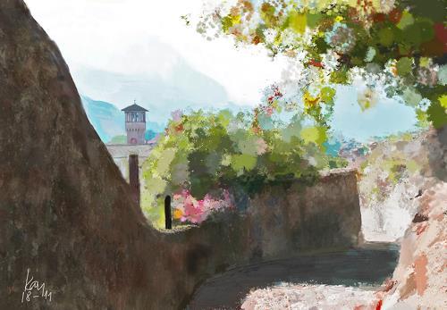 Kay, Salita San Michele, Landscapes: Plains, Landscapes: Summer, Contemporary Art