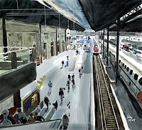 Kay-People-Group-Traffic-Railway-Contemporary-Art-Contemporary-Art