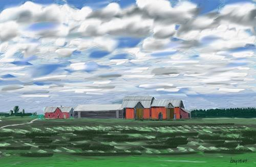Kay, Michigan Farm, Landscapes: Plains, Nature: Earth, Contemporary Art
