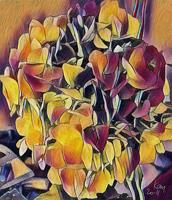 Kay-Plants-Flowers-Abstract-art-Contemporary-Art-Contemporary-Art