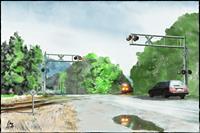 Kay-Landscapes-Autumn-Traffic-Railway-Contemporary-Art-Contemporary-Art