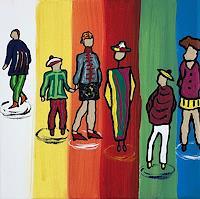 Godi-Tresch-People-Group-Fantasy-Modern-Age-Abstract-Art