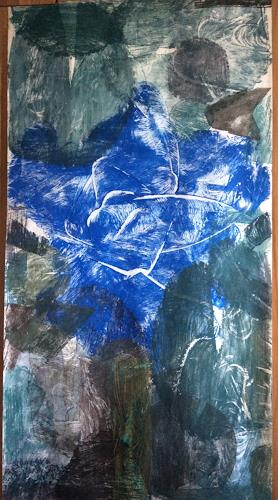 Sabine Müller, Blauer Planet, Nature: Earth, Poetry, Contemporary Art, Abstract Expressionism