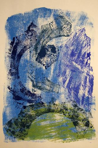Sabine Müller, Blaurausch, Abstract art, Nature: Miscellaneous, Modern Age