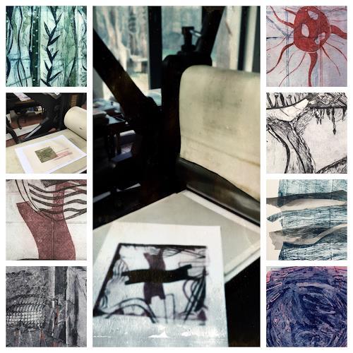 Sabine Müller, Collage aus der Druckwerkstatt, Miscellaneous, Abstract Art
