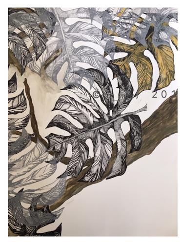 Sabine Müller, Fensterblatt, Miscellaneous Plants, Contemporary Art