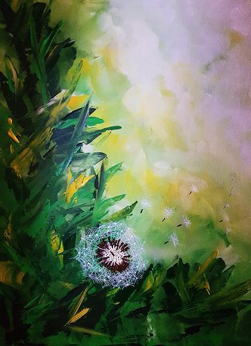 Gerhard Winkler, Pusteblume, Plants: Trees, Plants, Abstract Art