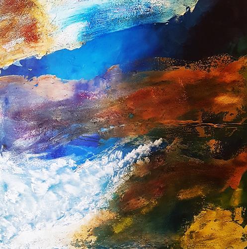 Gerhard Winkler, Blick von der ISS, Landscapes, Landscapes, Abstract Art