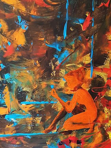 Gerhard Winkler, Blauherzfee, Abstract art, Abstract art, Abstract Art, Abstract Expressionism
