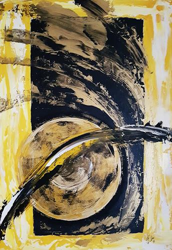 Gerhard Winkler, Sonnenwind, Abstract art, Abstract art, Action Painting