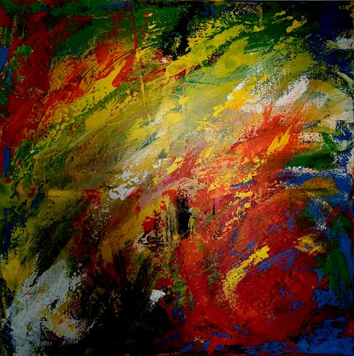 Gerhard Winkler, Farblichter, Abstract art, Abstract art, Action Painting
