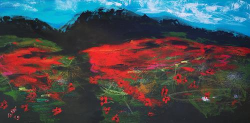 Gerhard Winkler, Panoramabild I, Abstract art, Abstract art, Action Painting