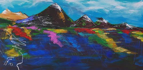 Gerhard Winkler, Panoramabild II, Landscapes: Autumn, Abstract art, Action Painting