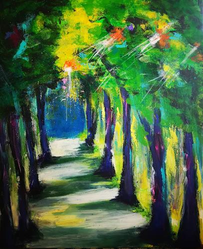 Gerhard Winkler, Allee Gerwin, Landscapes: Summer, Abstract art, Action Painting, Expressionism