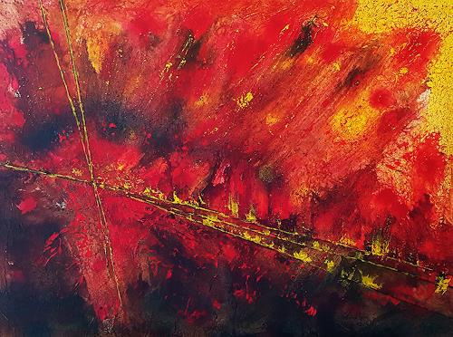 Gerhard Winkler, Heißes Land, Landscapes, Abstract art, Action Painting