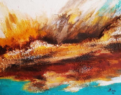 Gerhard Winkler, Sandsturm, Landscapes, Abstract art, Action Painting