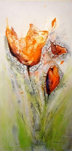 Katrin Wetzel, Springtime 2, Plants: Trees, Non-Objectivism [Informel], Expressionism