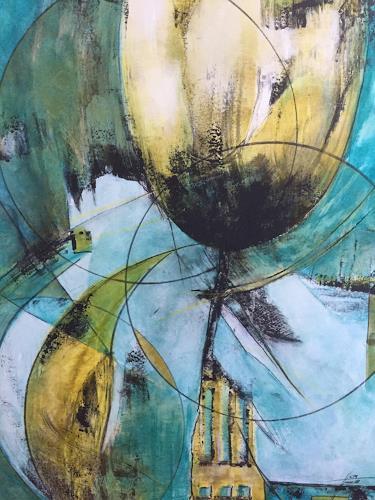 Christiane Mohr, Der Mond küsst die Blumen, Plants: Flowers, Fantasy, Abstract Art, Abstract Expressionism