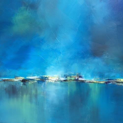 Christiane Mohr, Blaues Licht, Landscapes, Landscapes: Plains, Abstract Art, Expressionism