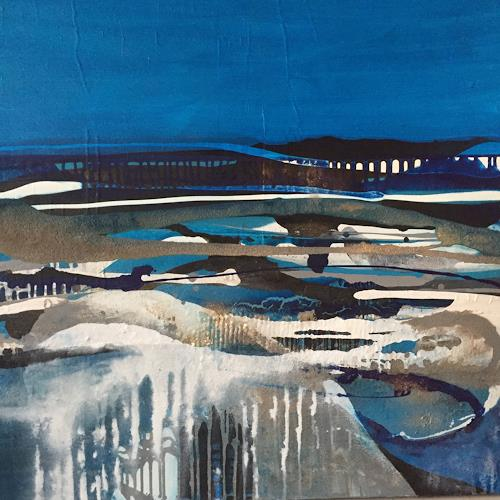 Christiane Mohr, Winterzeit, Landscapes, Miscellaneous Landscapes, Abstract Art, Expressionism