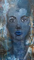 Christiane-Mohr-People-Women-People-Faces-Modern-Age-Abstract-Art
