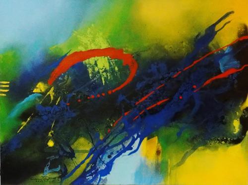 Susanne Geyer, keine Angst vor gelb, blau, rot, Abstract art, Non-Objectivism [Informel]
