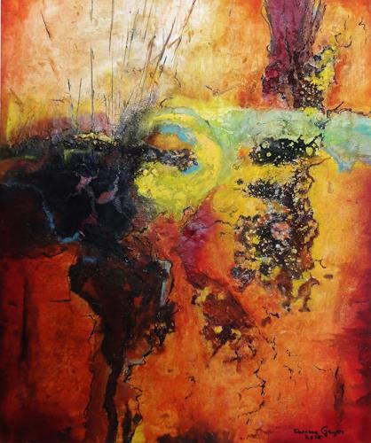 Susanne Geyer, Licht und Erde, Abstract art, Non-Objectivism [Informel]