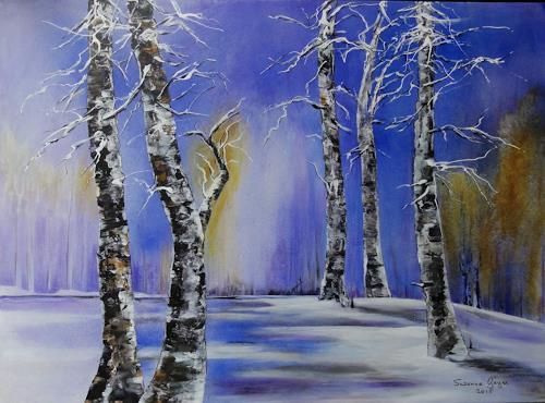 Susanne Geyer, Winterleuchten, Landscapes: Winter