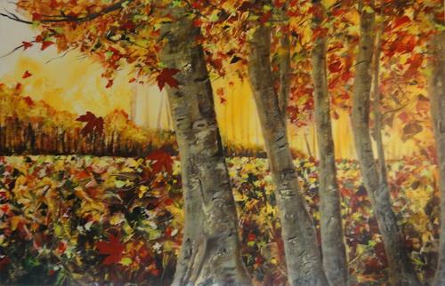 Susanne Geyer, Herbst, Landscapes: Autumn, Contemporary Art, Expressionism