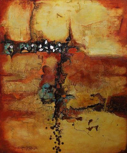 Susanne Geyer, Licht und Erde II, Abstract art, Non-Objectivism [Informel]