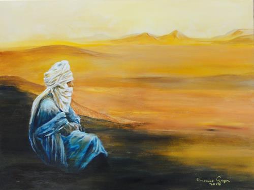 Susanne Geyer, Tuareg, Landscapes, Landscapes, Contemporary Art, Expressionism