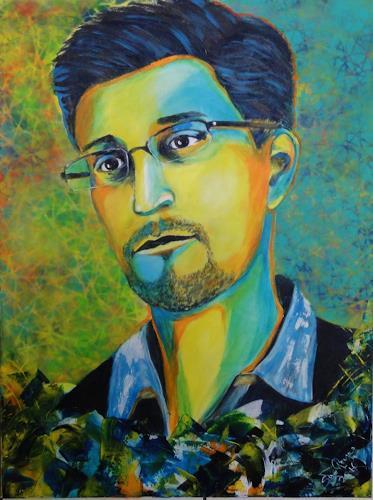 Susanne Geyer, Snowden, People: Portraits, Pop-Art