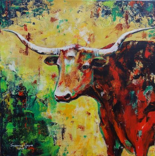 Susanne Geyer, Longhorn 2, Animals, Animals: Land, Contemporary Art