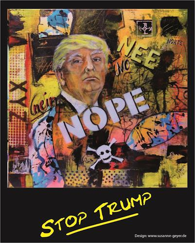 Susanne Geyer, No Trump, People, Society, Modern Times, Abstract Expressionism