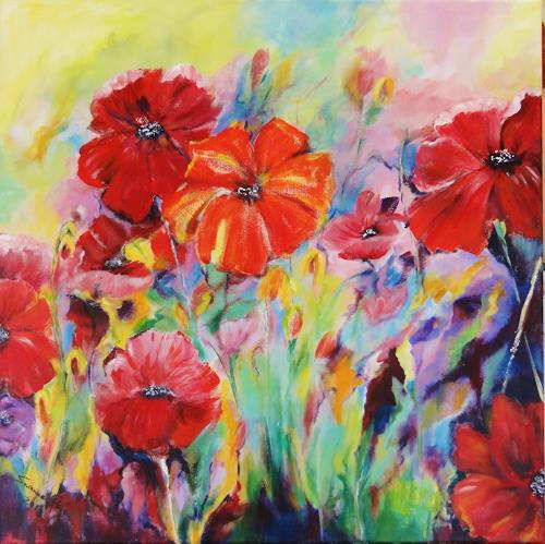 Susanne Geyer, Sommerwiese, Plants: Flowers, Contemporary Art, Expressionism