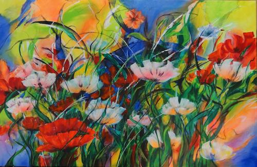 Susanne Geyer, Summertime, Plants: Flowers, Contemporary Art, Expressionism