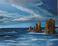 Susanne-Geyer-Landscapes-Sea-Ocean-Nature-Rock-Contemporary-Art-Contemporary-Art