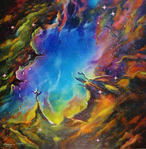 Susanne Geyer, Galaxis, Outer space: Stars, Contemporary Art, Expressionism