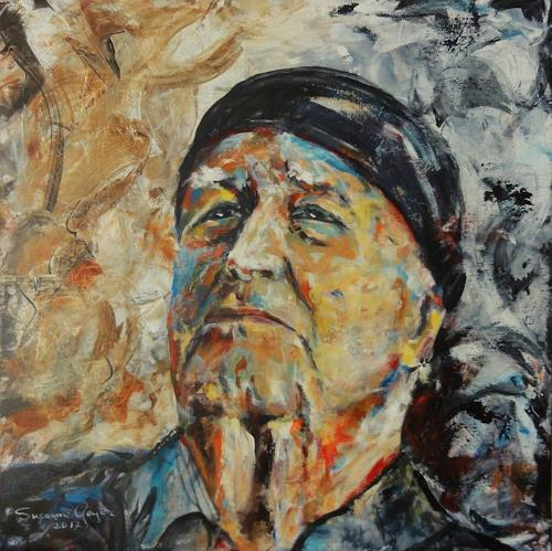 Susanne Geyer, Hommage an K.O. Götz, People: Portraits, People: Men, Contemporary Art, Expressionism