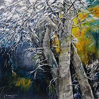 Susanne-Geyer-Plants-Trees-Landscapes-Winter-Contemporary-Art-Contemporary-Art