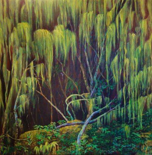 Susanne Geyer, Rwenzori, Landscapes: Tropics, Nature: Wood, Contemporary Art, Expressionism