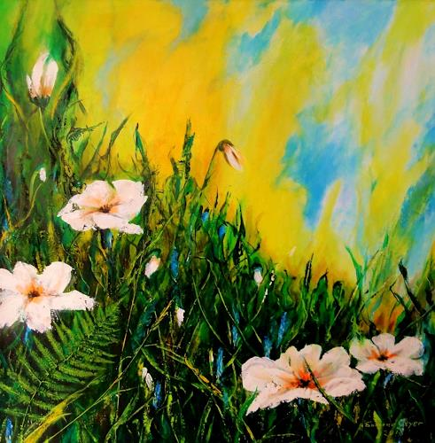 Susanne Geyer, Wildflowers, Plants: Flowers, Times: Summer, Contemporary Art, Expressionism