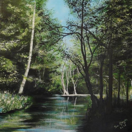 Susanne Geyer, Waldimpression, Nature: Wood, Landscapes: Summer, Contemporary Art, Expressionism