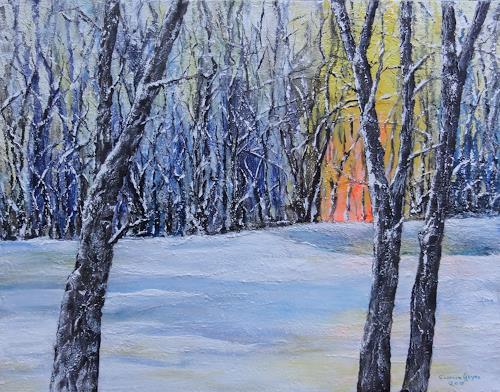 Susanne Geyer, Winterimpression, Landscapes: Winter, Nature: Wood, Contemporary Art